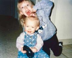 I love being goofy around my sister